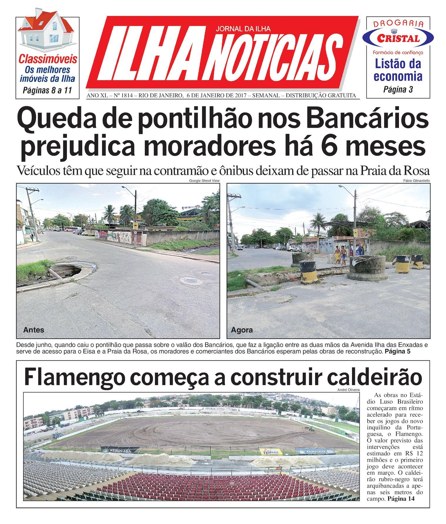Jornal Ilha Notícias - Edição 1814 - 6/1/2017