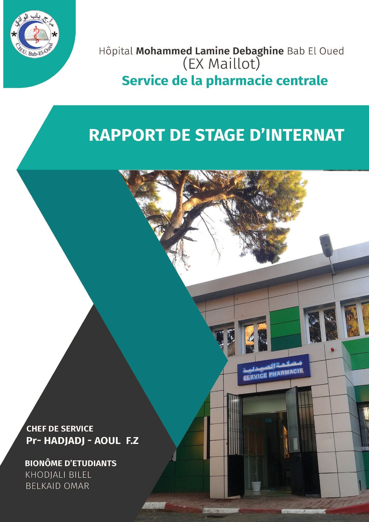 Calameo Rapport De Stage Pharmacie Chu Beo