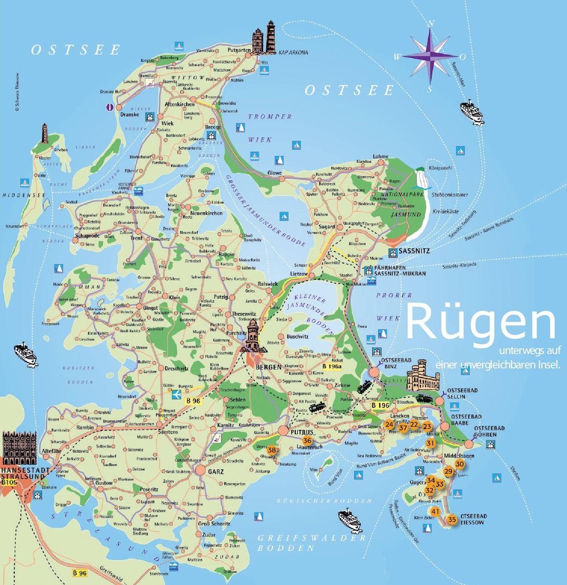 Calameo Insel Rugen Karte