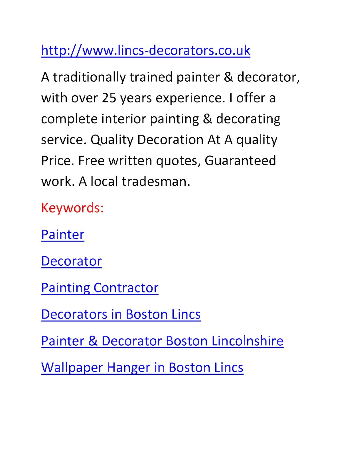 Painter And Decorator Prices >> Calameo Lincs Decorators Co Uk