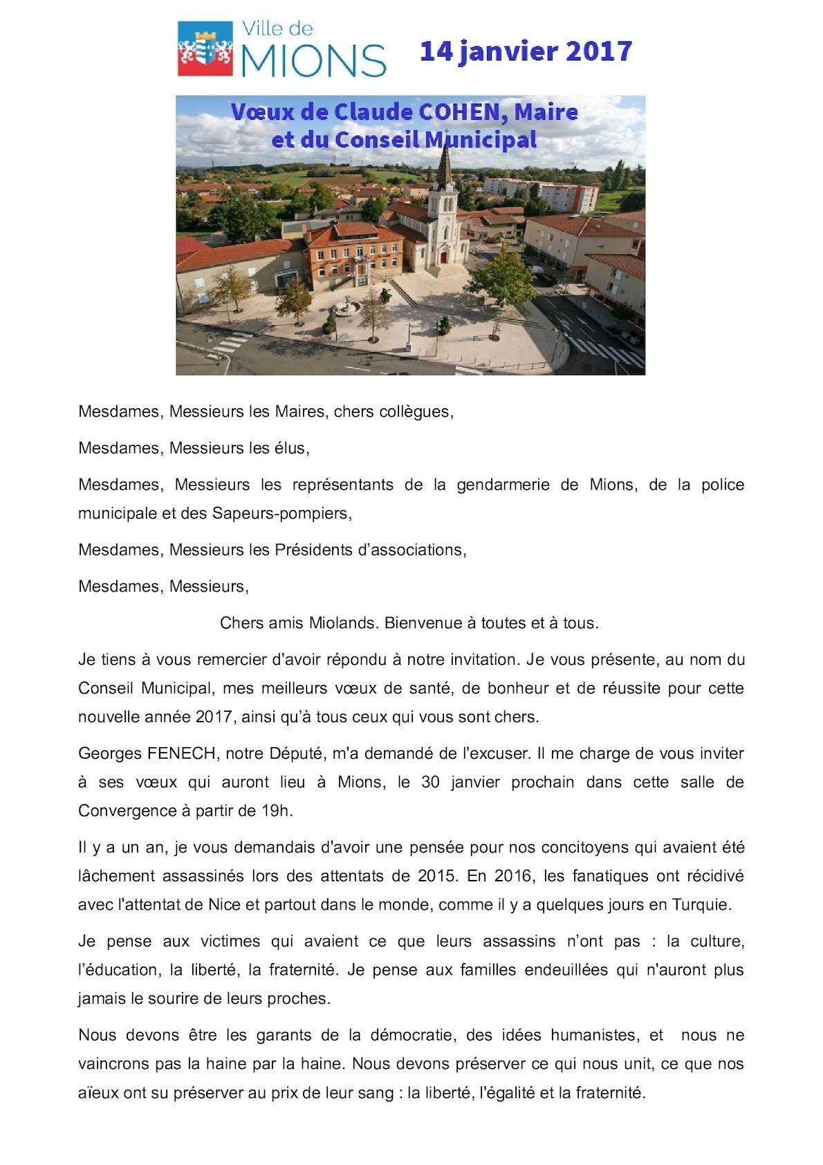 Calameo Discours Voeux 2017 Site Ville