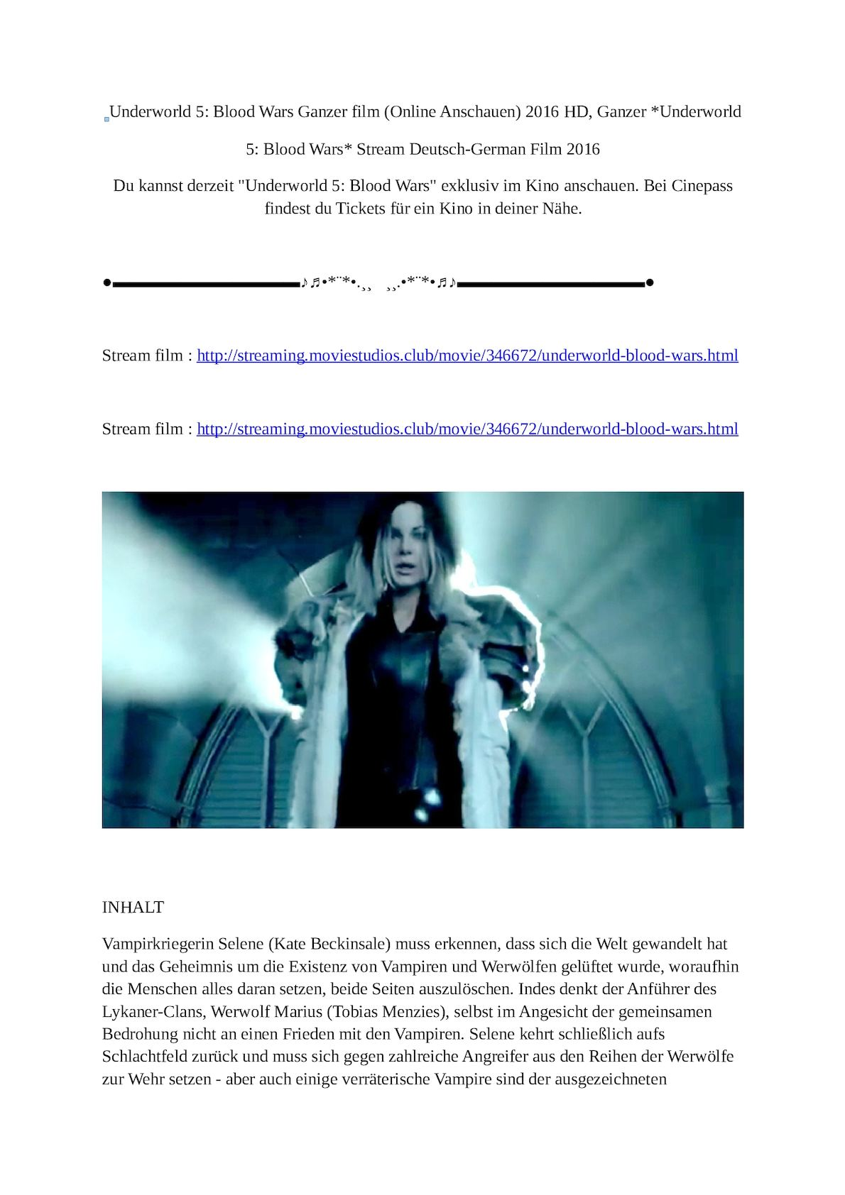 film underworld blood wars streaming