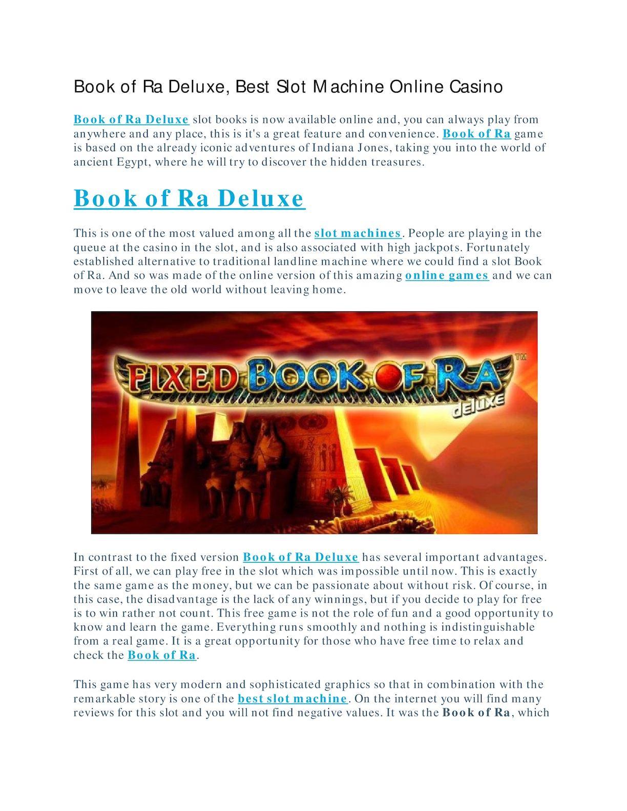 Calameo Book Of Ra Deluxe