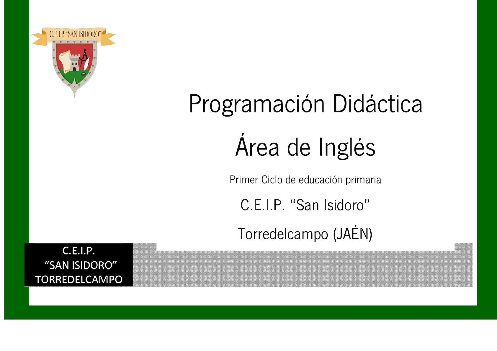 2 Programaciones 16 17 1 Ciclo Calaméo Inglés 3 X8OP0nkw