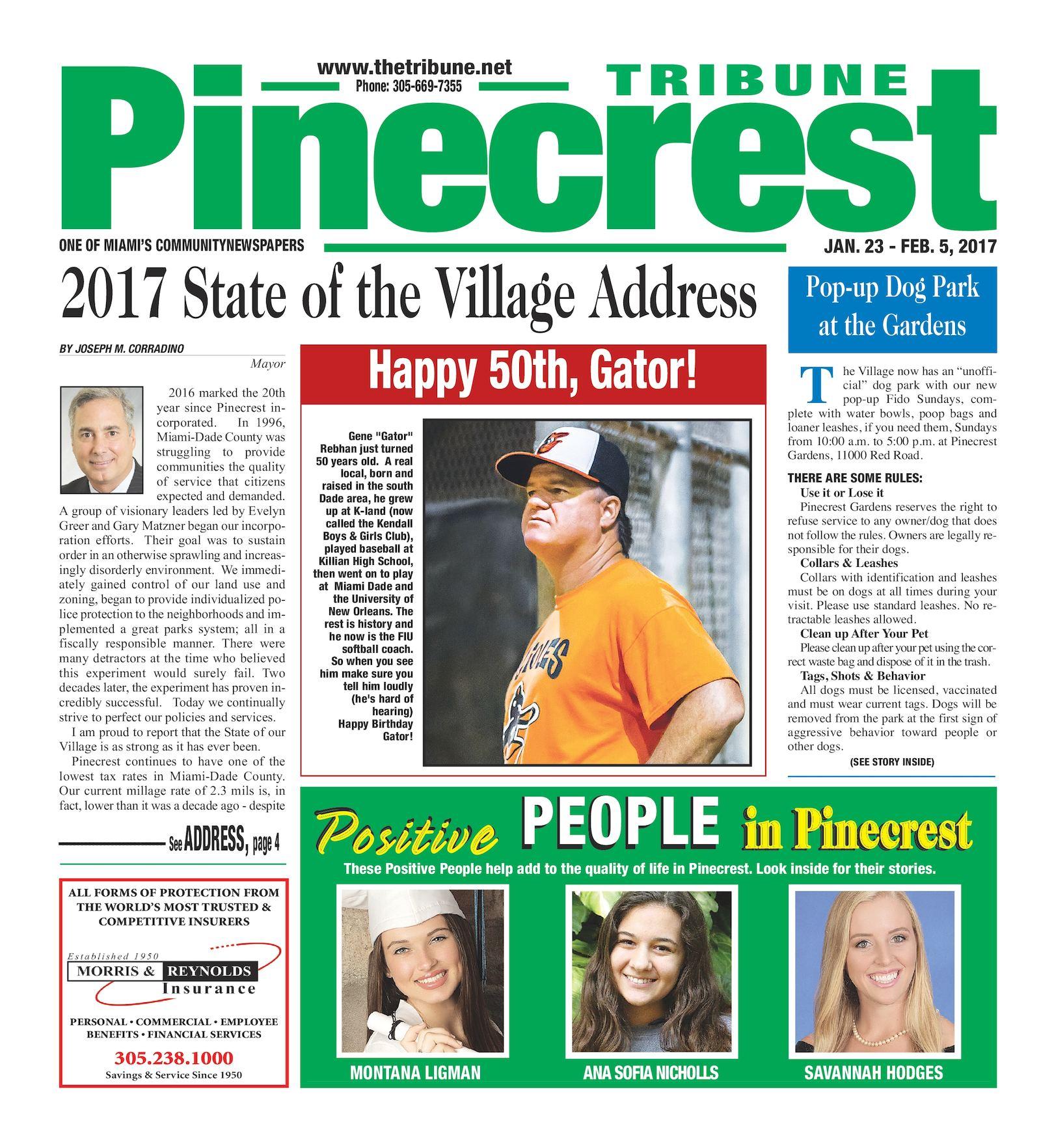 competitive price 571c1 b936c Pinecrest Tribune 01.23.2017