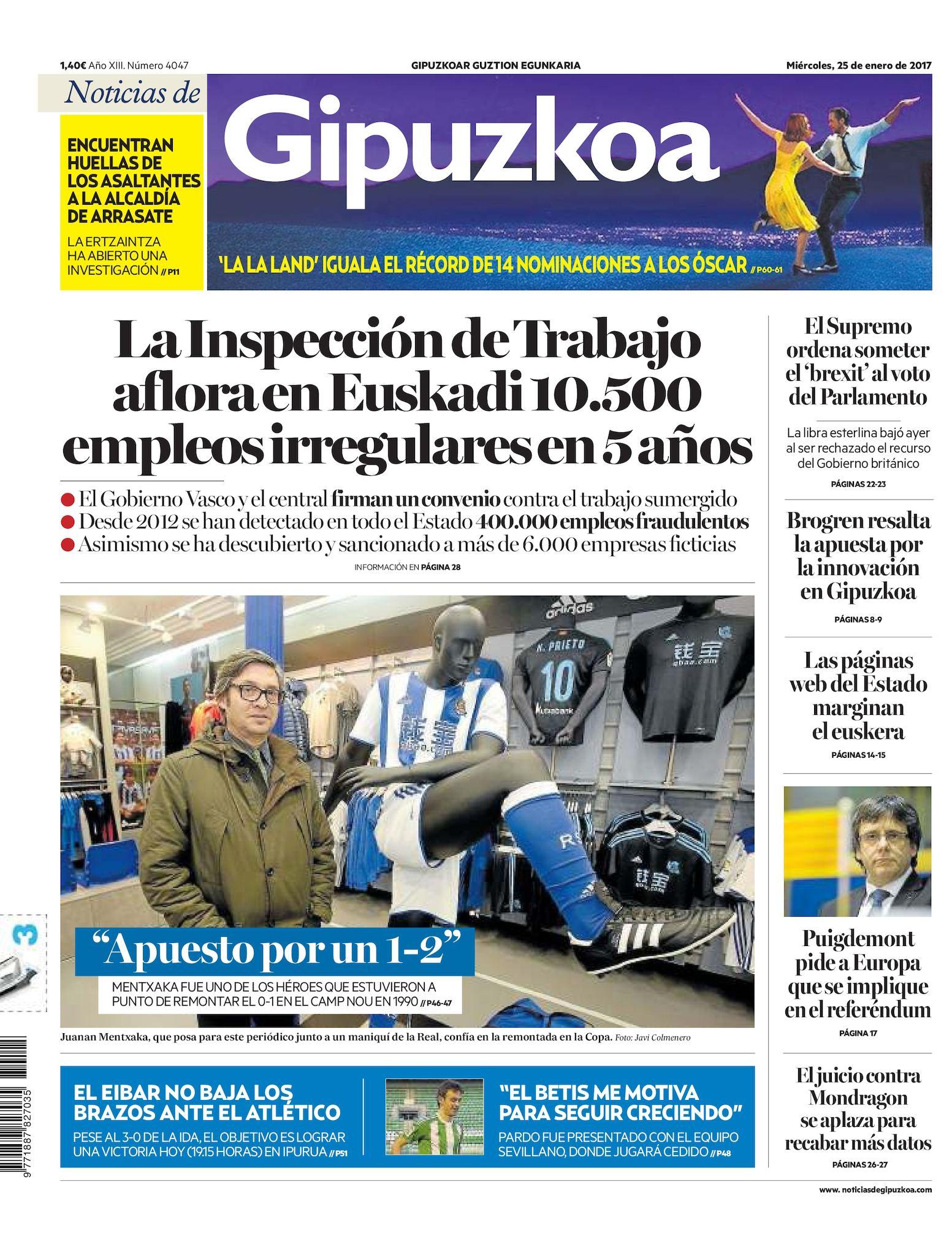 7a0ca38540 Calaméo - Noticias de Gipuzkoa 20170125