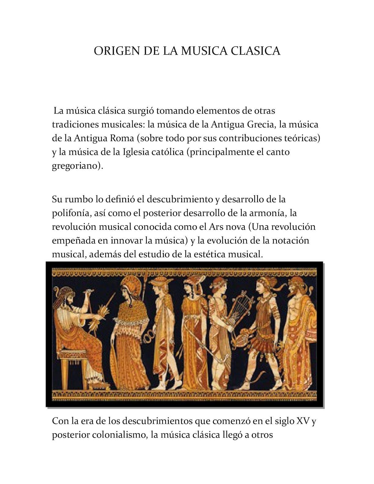 Calameo Origen De La Musica Clasica