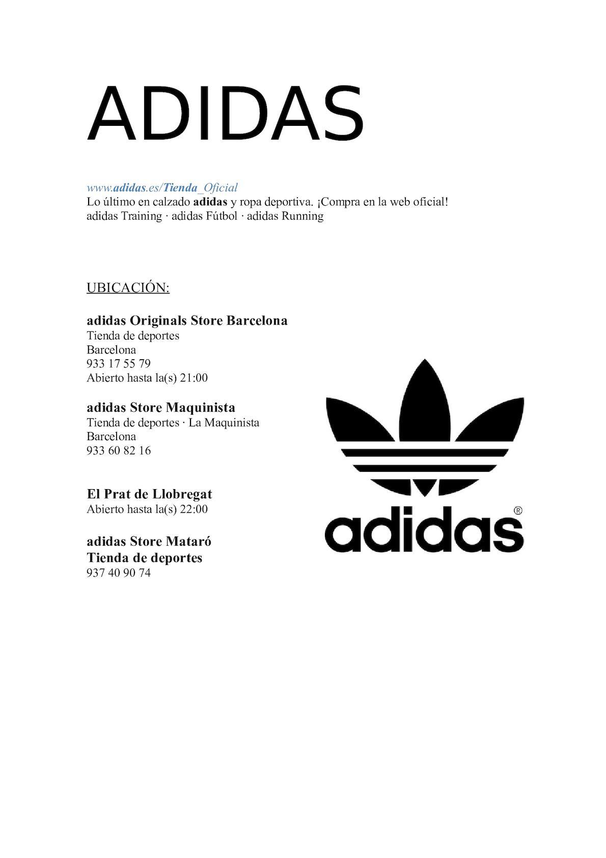 Aclarar Bolsa juntos  Calaméo - Adidas