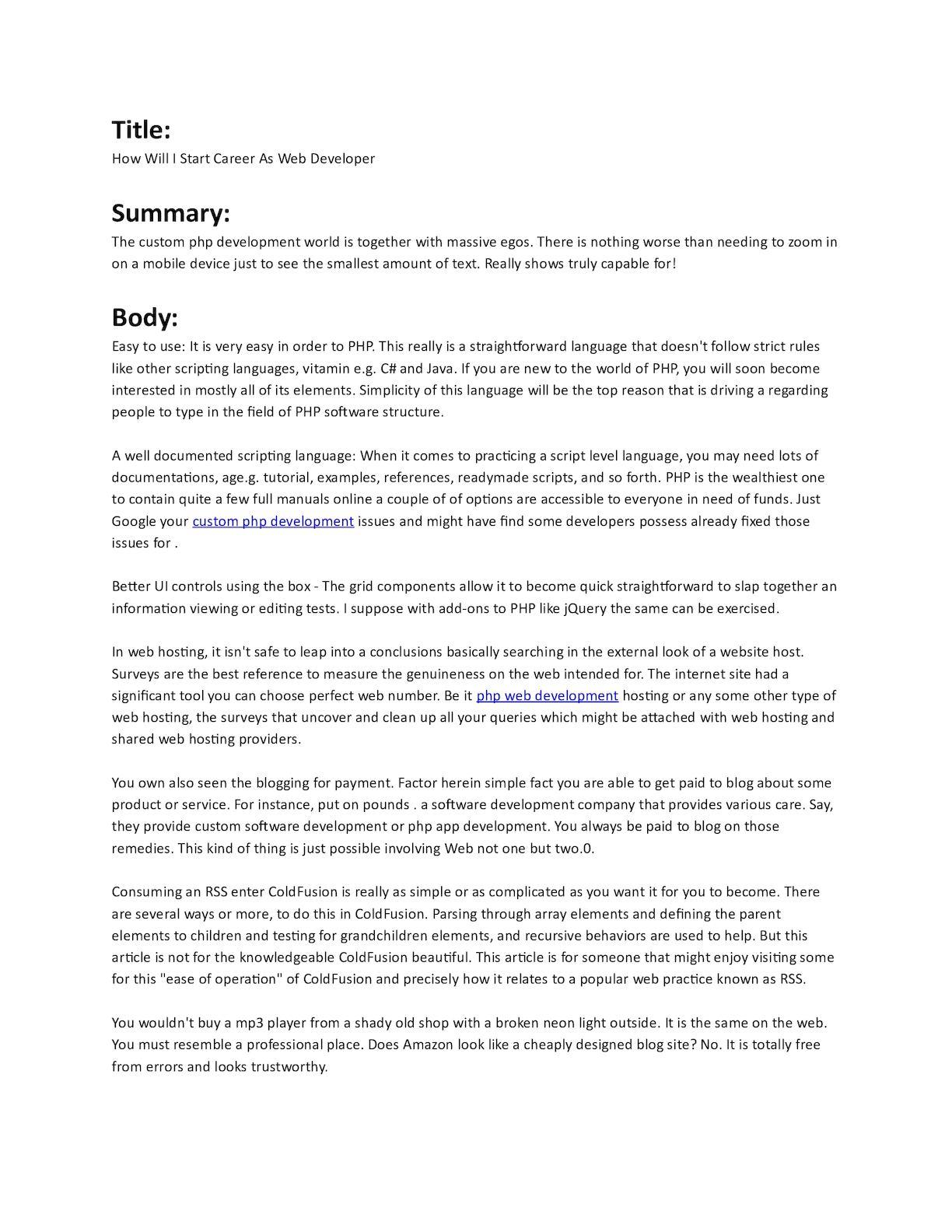 Calaméo - Php Application Development