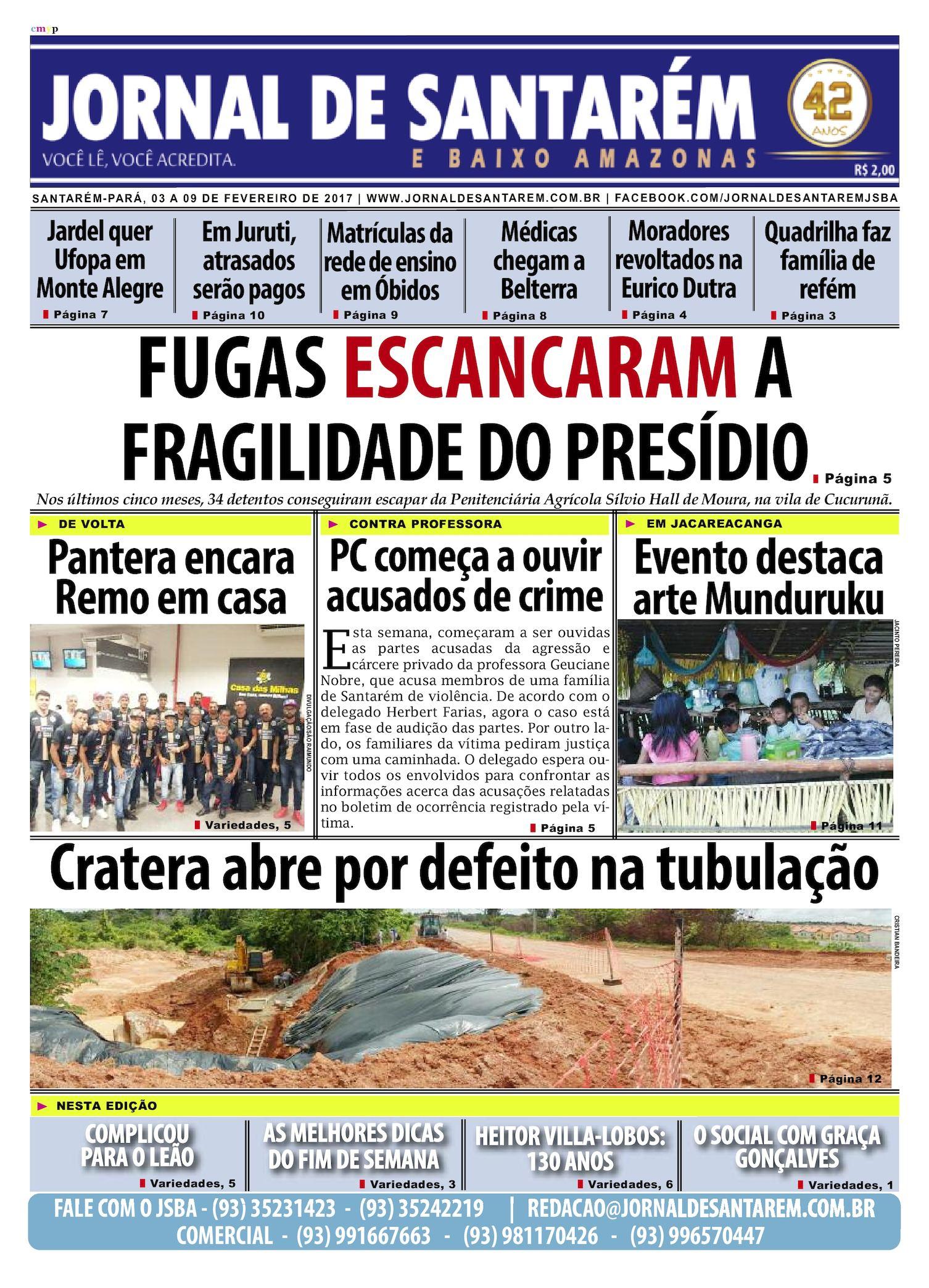 e89c16a276 Calaméo - JORNAL DE SANTARÉM E BAIXO AMAZONAS EDIÇÃO DE 03 A 09 DE  FEVEREIRO DE 2017