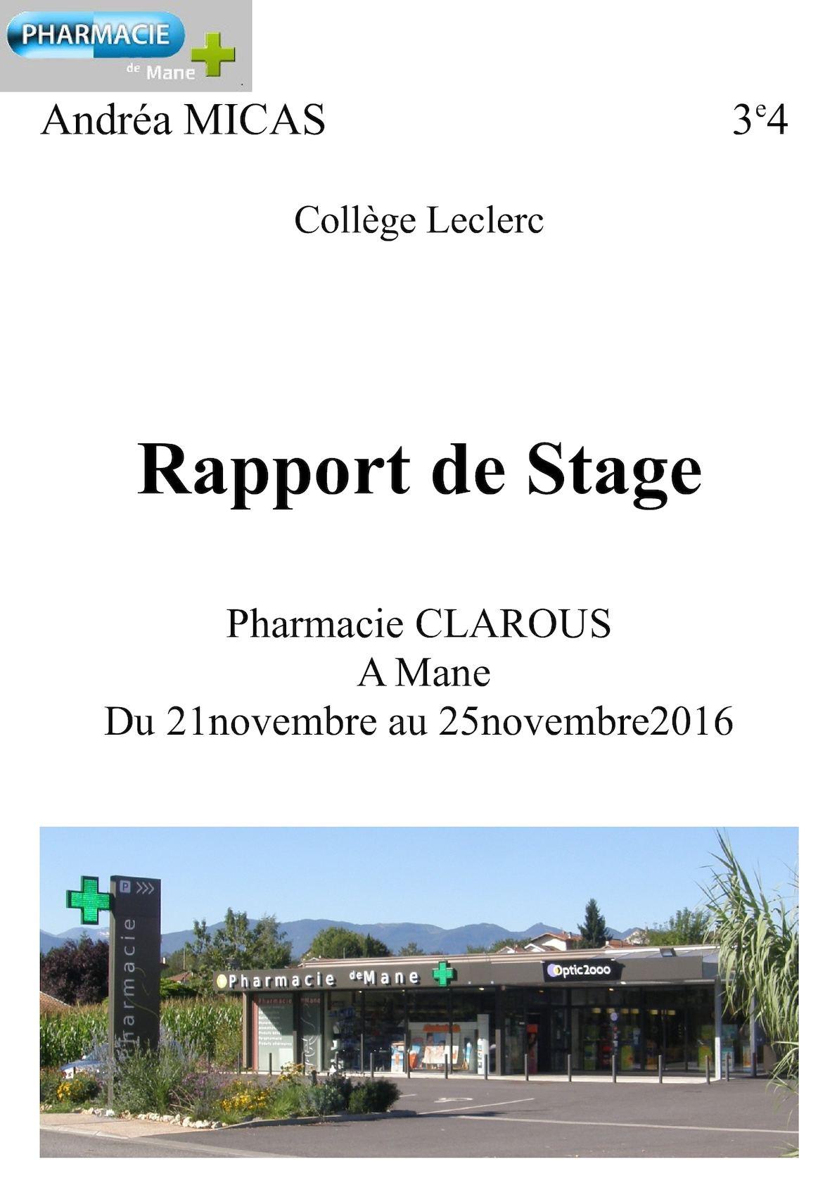 Calaméo Rapport De Stage Fini