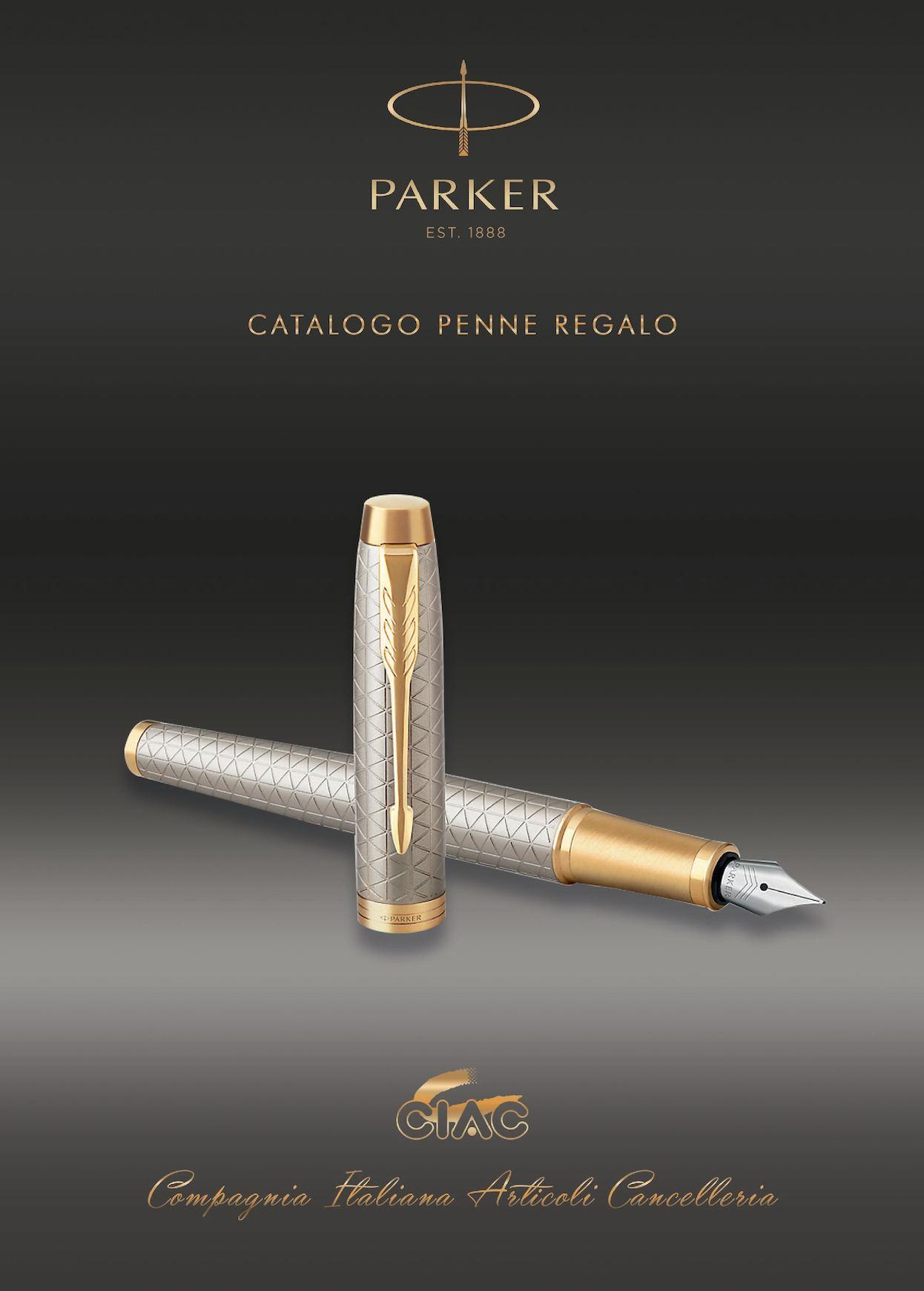 Parker Sonnet Penna Roller Confezione Regalo Pennino Sottile Acciaio Inossidabile con Finiture in Palladio