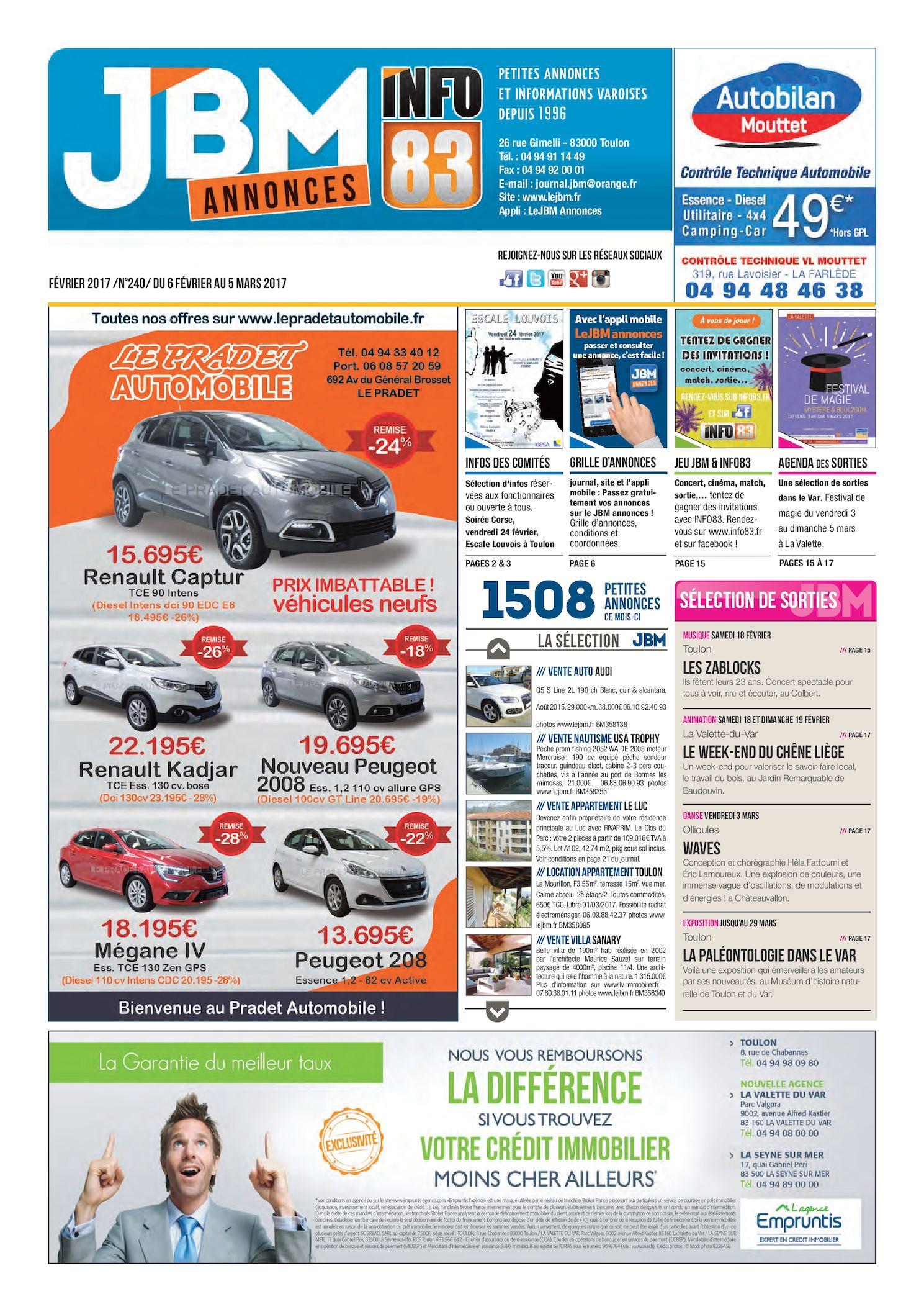 Calaméo - Journal JBM Annonces n°240 février 2017 fa8b9da060e