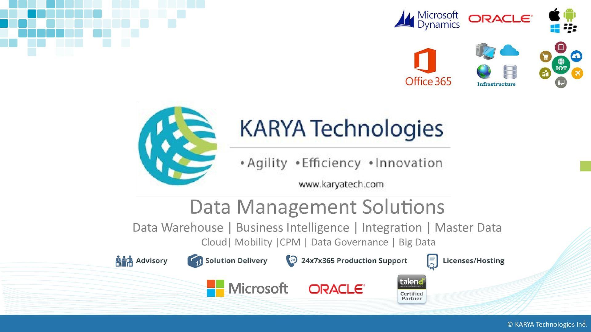 Calaméo - KARYA Technologies - Data Management Services