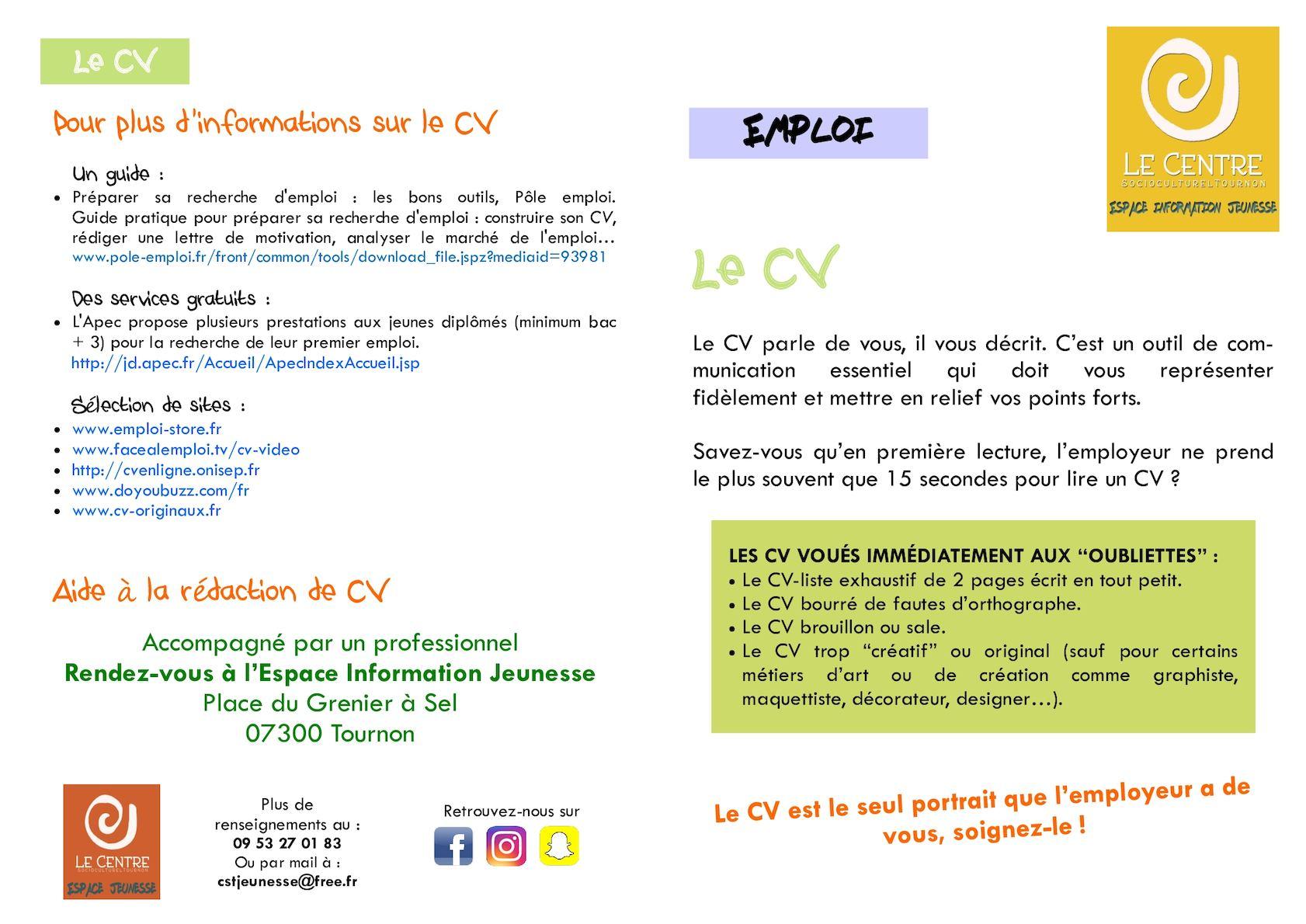 Calaméo Le Cv