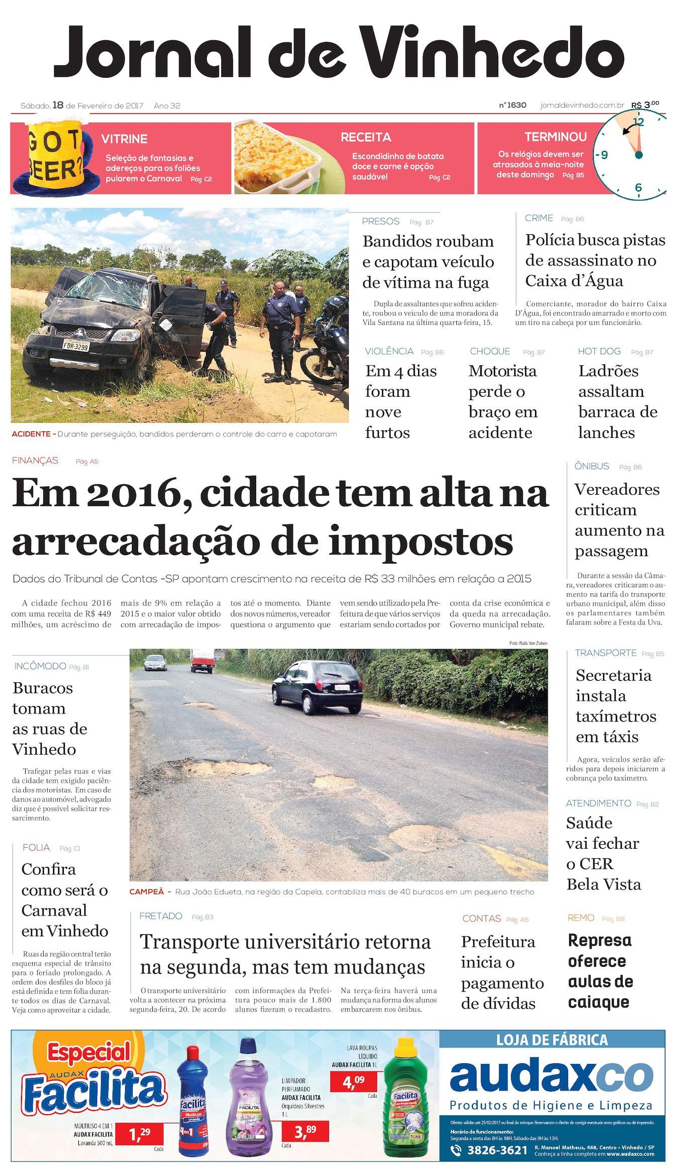 cda4ef845 Calaméo - Jornal De Vinhedo Sabado 18 De Fevereiro De 2017 Edic 1630