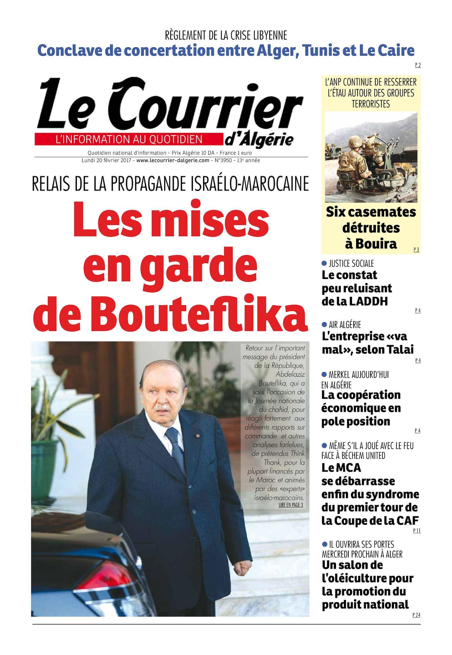 cc5b4ac063c4f Calaméo - Le Courrier D Algérie Du Lundi 20 Février 2017