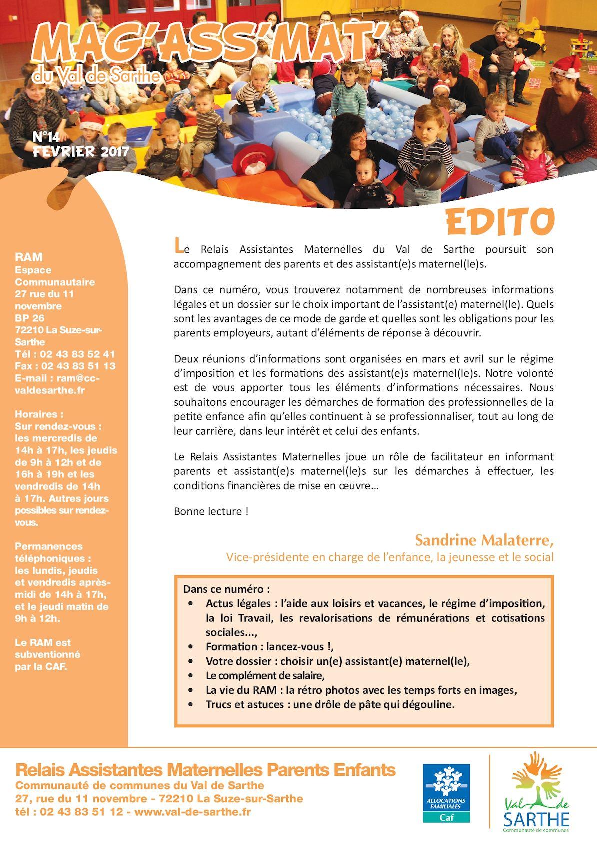 Calameo Mag Des Assistantes Maternelles Val De Sarthe N 14