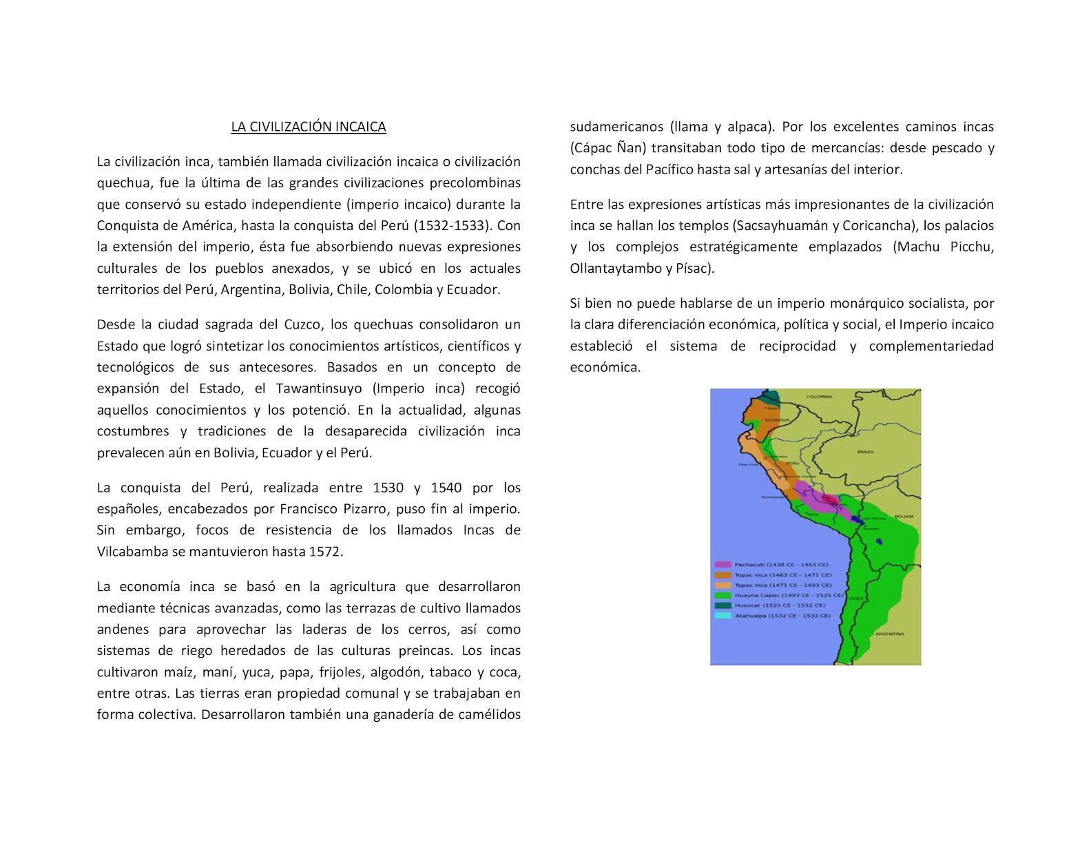 Calaméo La Civilización Incaica