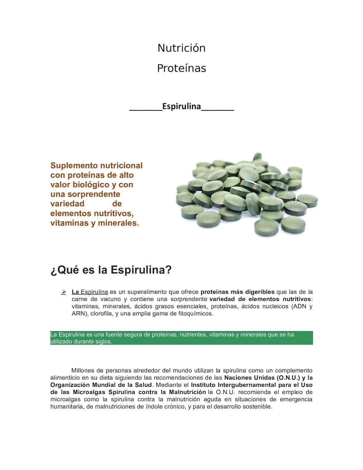 Espirulina para adelgazar funcionan los aditivos