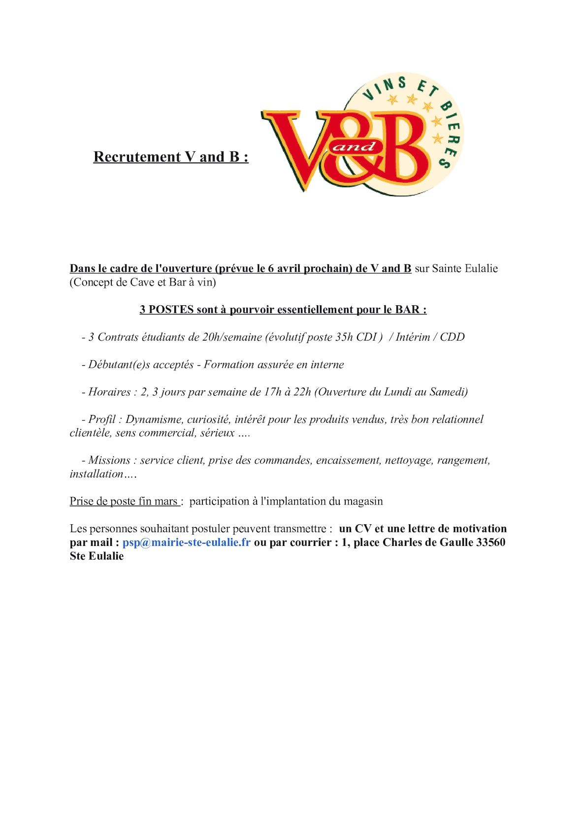 Calaméo Recrutement V And B