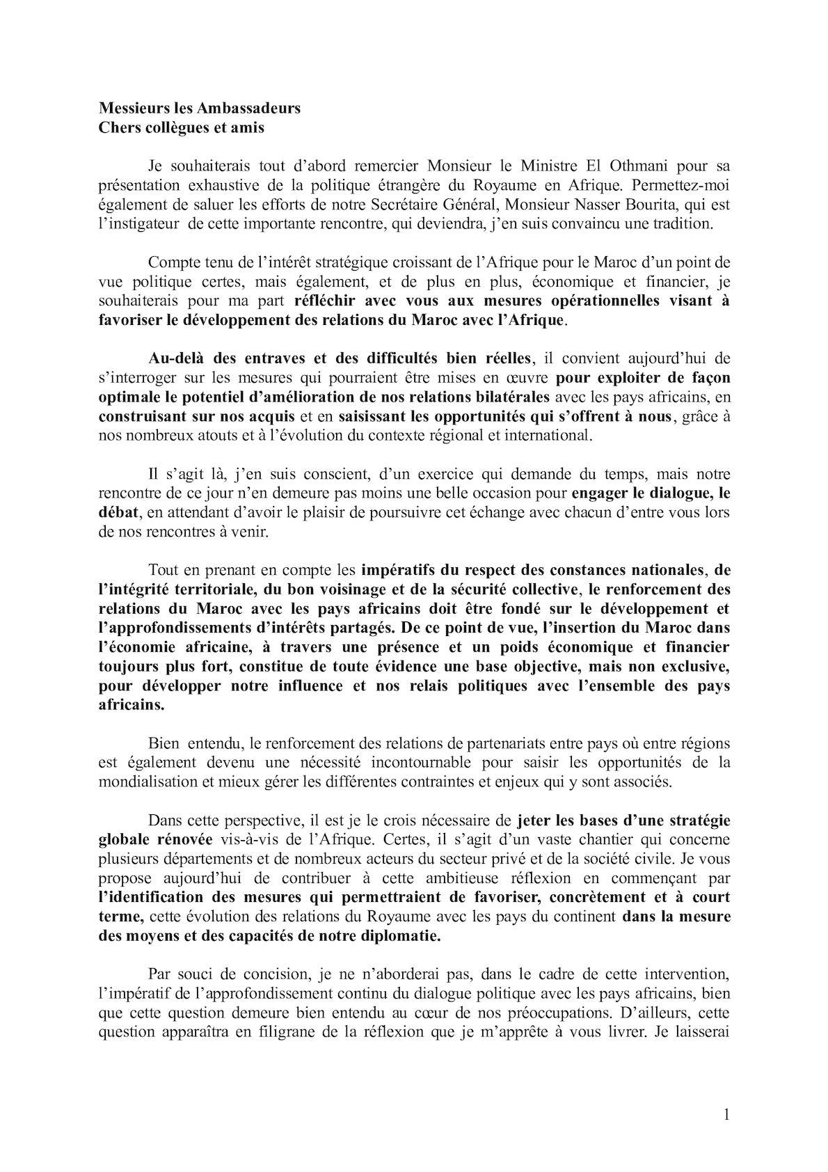 59aebd6ba1fa Calaméo - Discours Ambassadeurs Du Royaume En Afrique Version Finale (2).