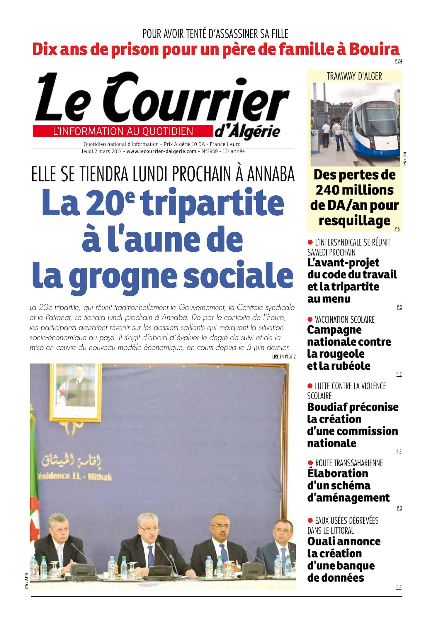 33dd801cc1f4 Calaméo - Le Courrier D Algérie Du Jeudi 2 Mars 2017