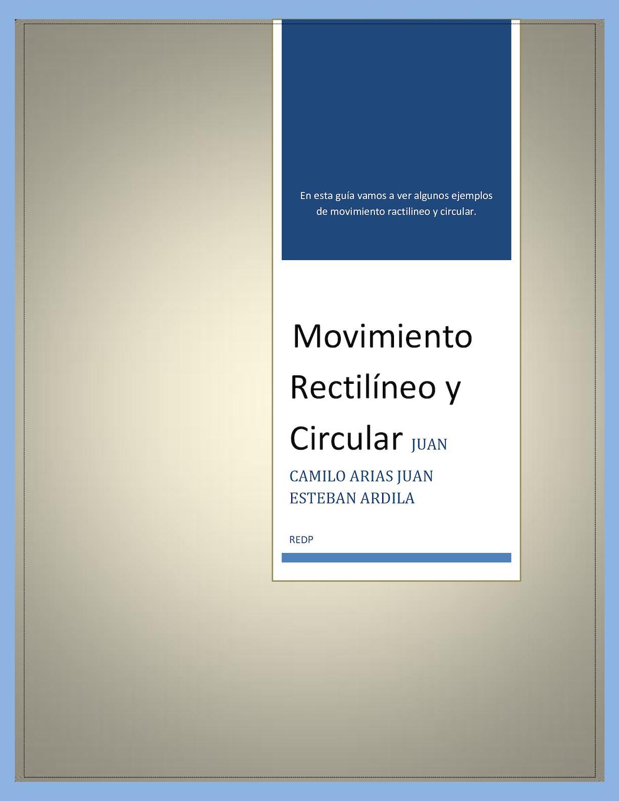 Calameo Guia 5 Movimiento Rectilineo Y Circular