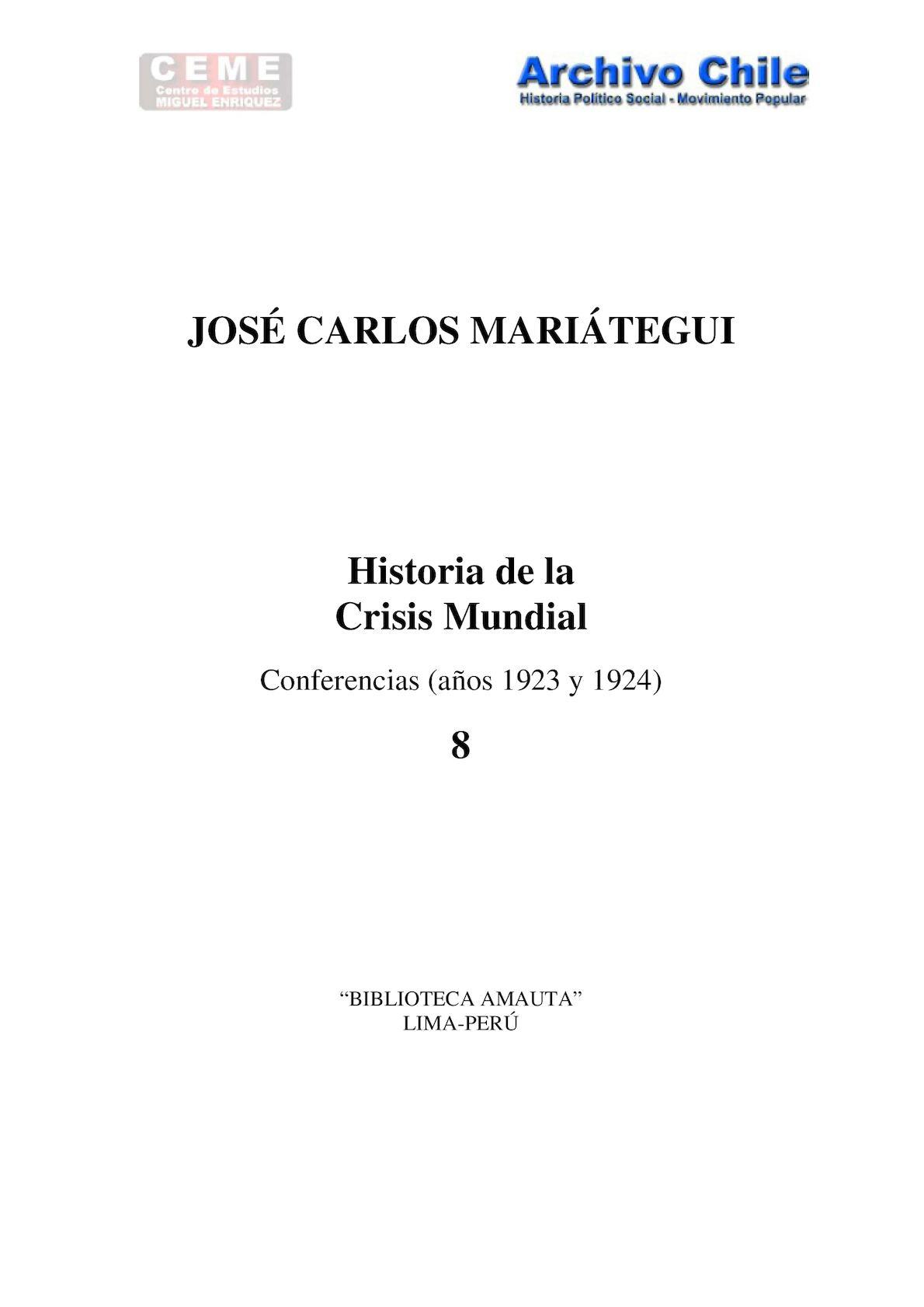 Calaméo - MARIÁTEGUI-Historia de la Crisis Mundial