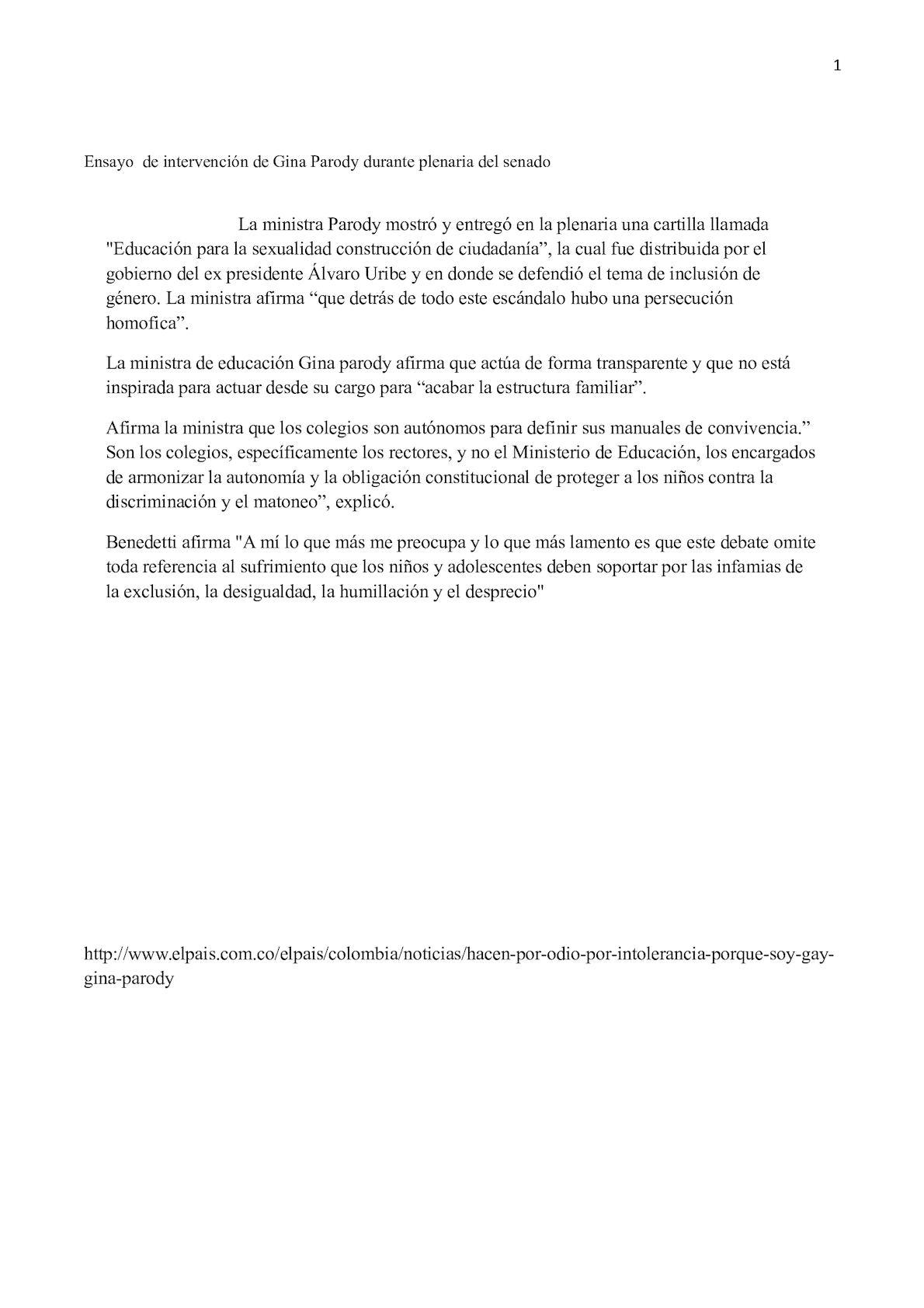 Calaméo Ensayo De Intervención De Gina Parody Durante