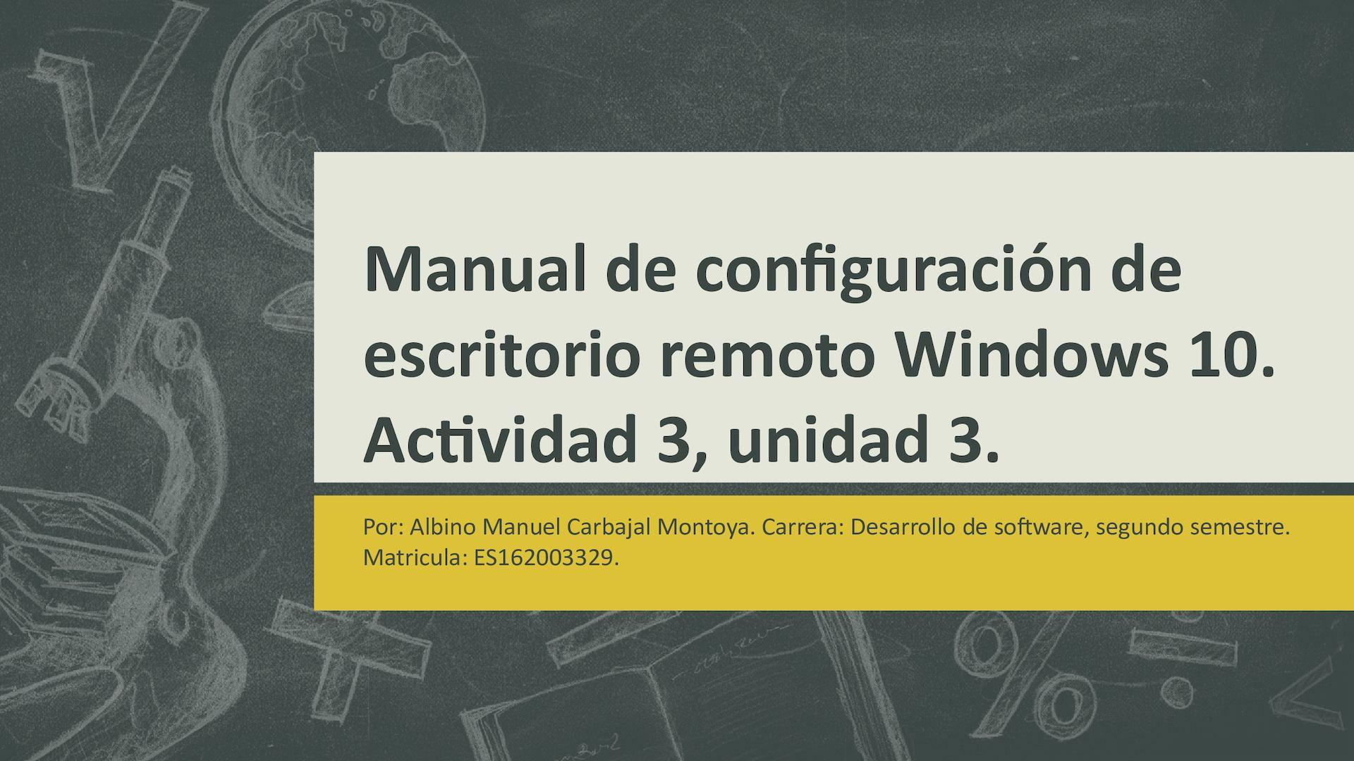 Manual De Configuracion De Escritorio Remoto Windows 10 Calameo