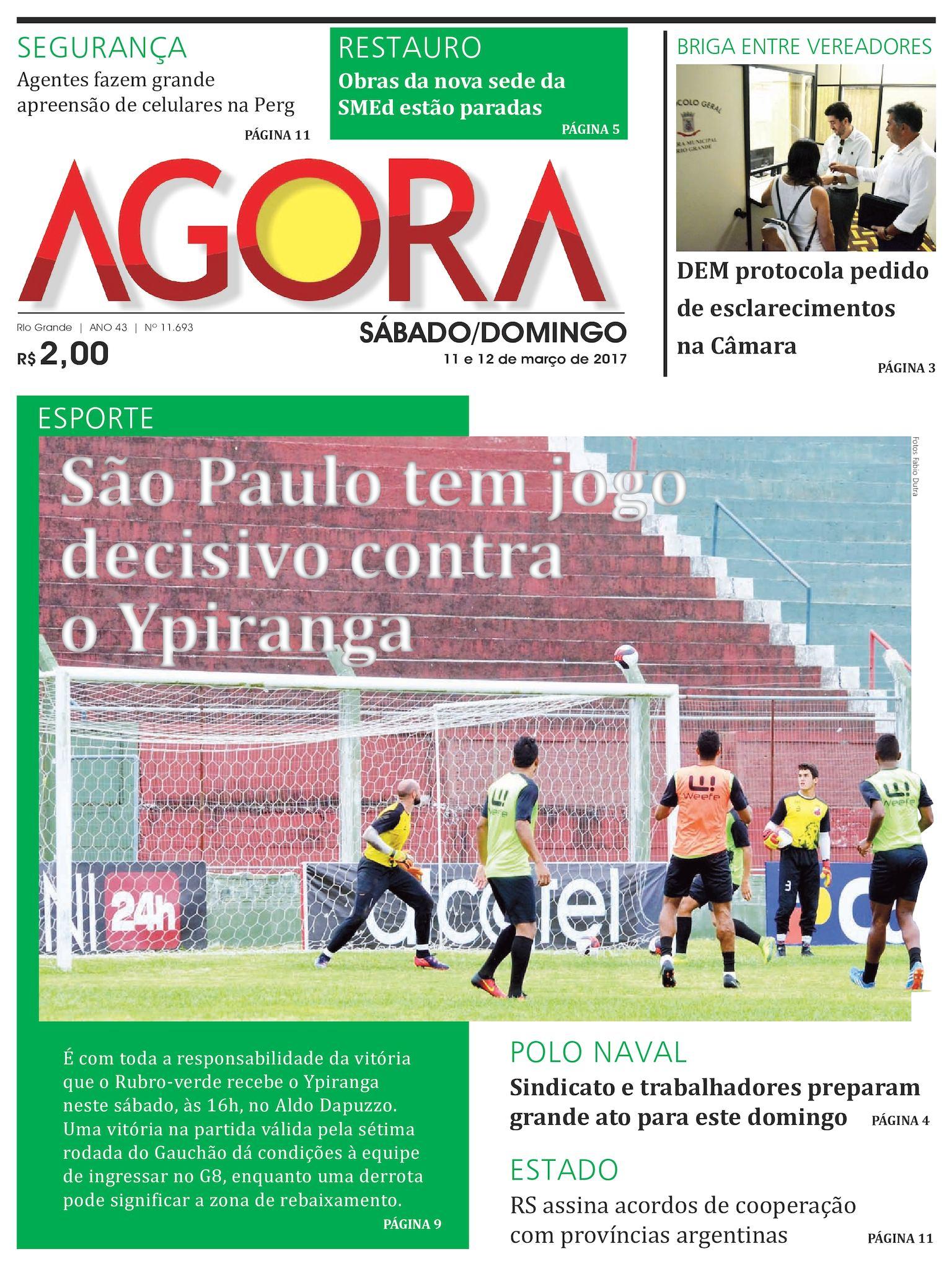 91c278a6b Calaméo - Jornal Agora - Edição 11693 - 11 e 12 de Março de 2017