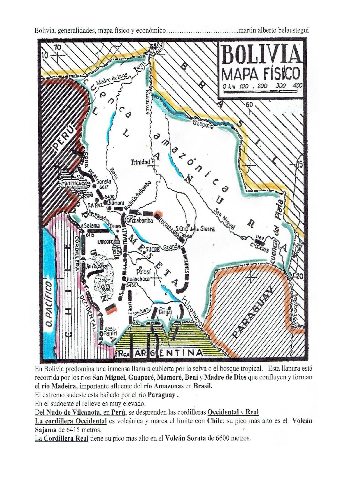 Calaméo Bolivia Generalidades Mapa Físico Y Económico