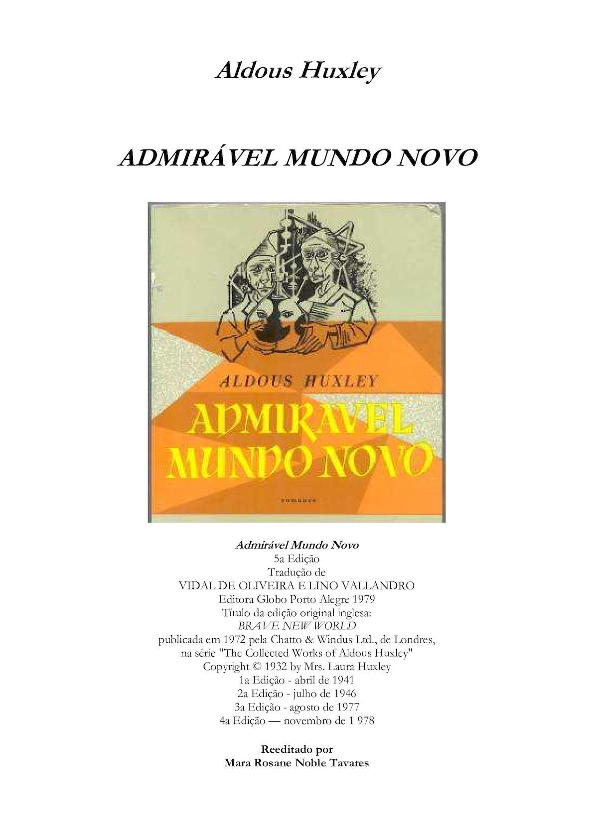 6204e8112be Calaméo - Admirável Mundo Novo