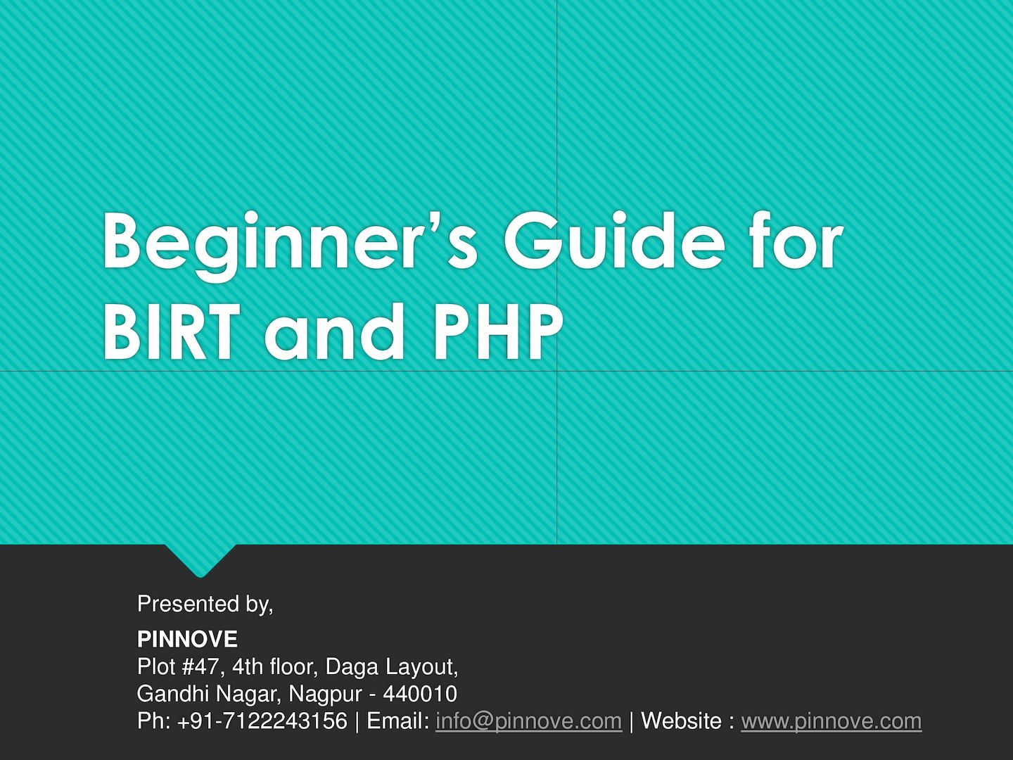 Calaméo - Beginner's Guide For Birt And Php