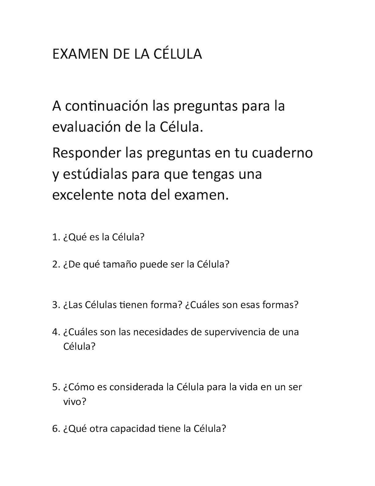 Calameo Examen De La Celula