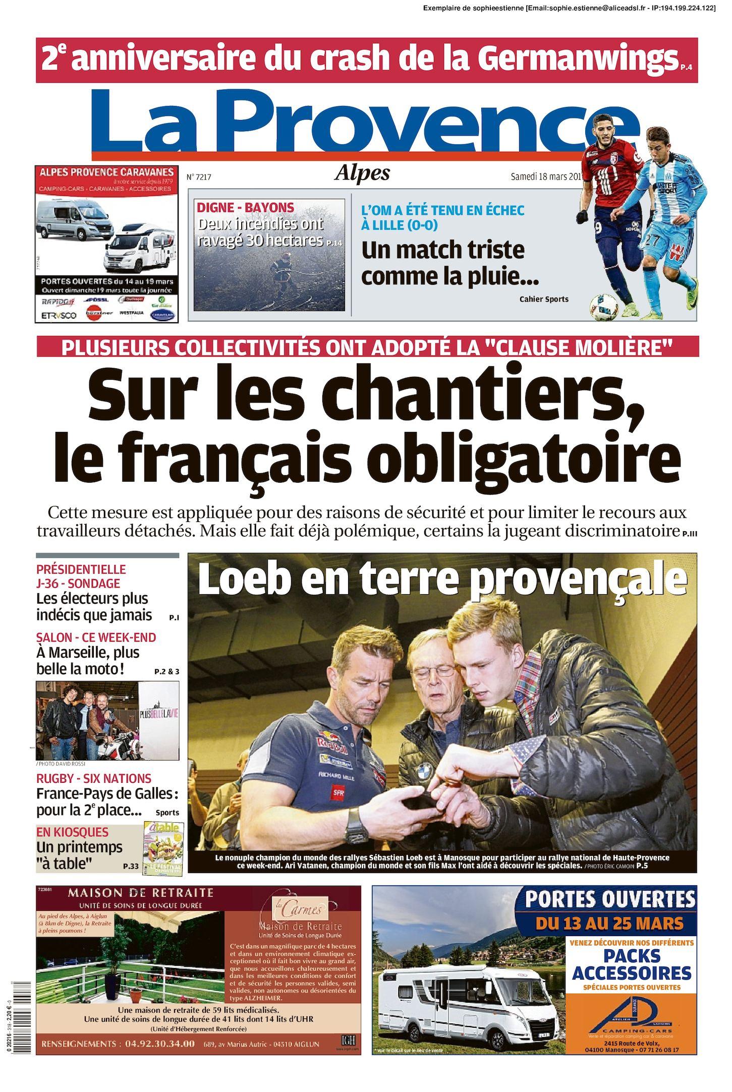 La 2017 Provence Du Edition 18 Calaméo Alpes 03 D29IWEH