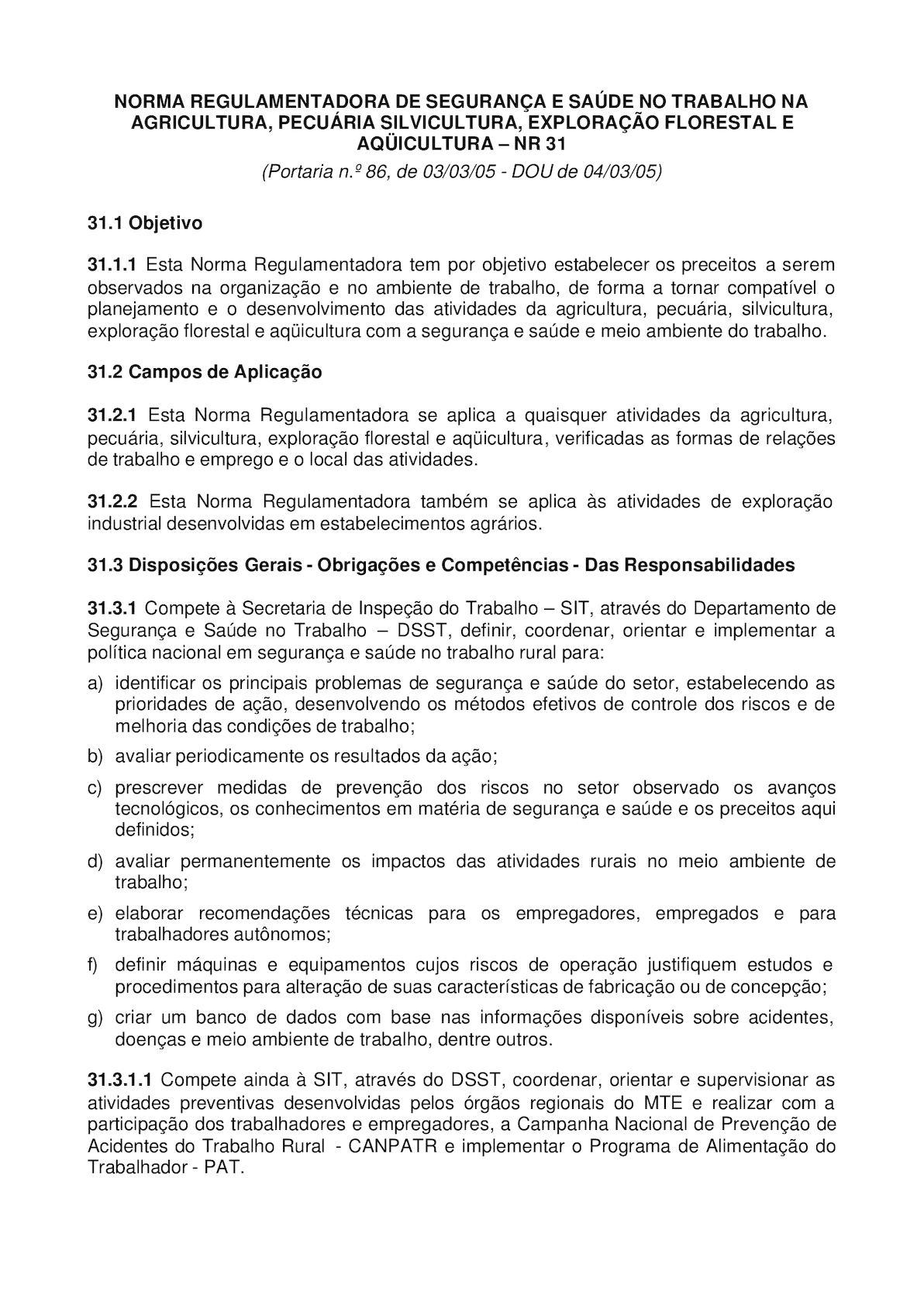 Calaméo - NR 31 - Segurança E Saúde No Trabalho Na Agricultura, Pecuária  Silvicultura, Exploração Florestal E Aqui ae07bed964