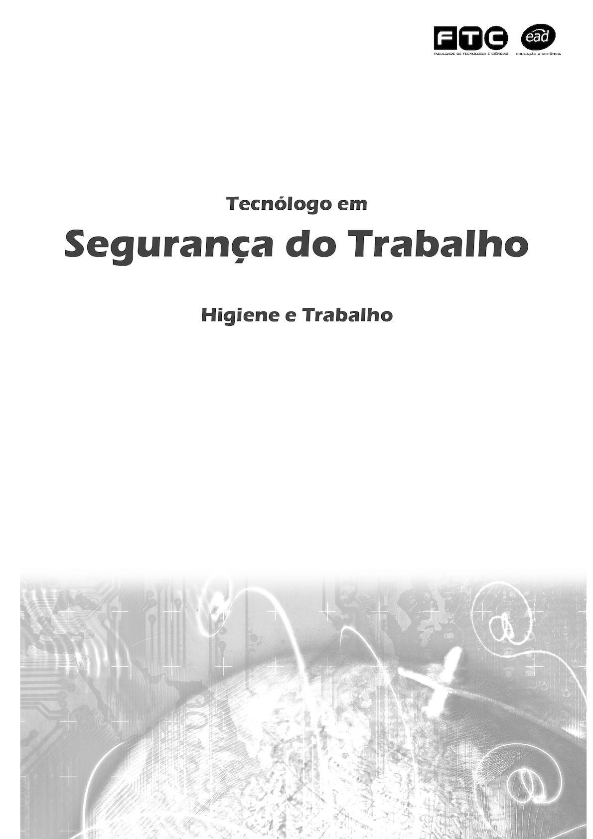 Calaméo - Apostila Higiene Do Trabalho 38019bc056