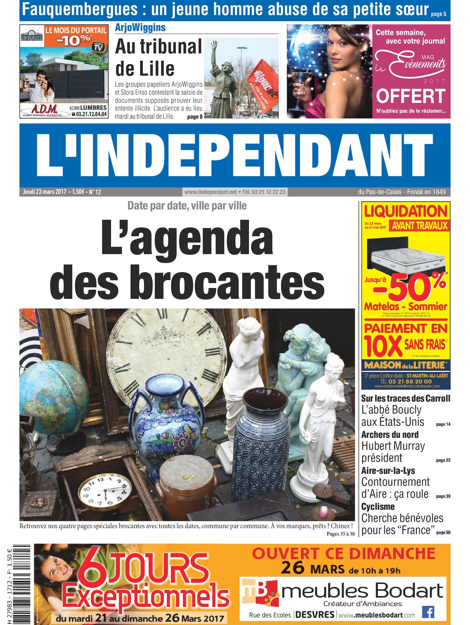 Papier Peint Lionet Hazebrouck calaméo - l'indépendant semaine 12 2017