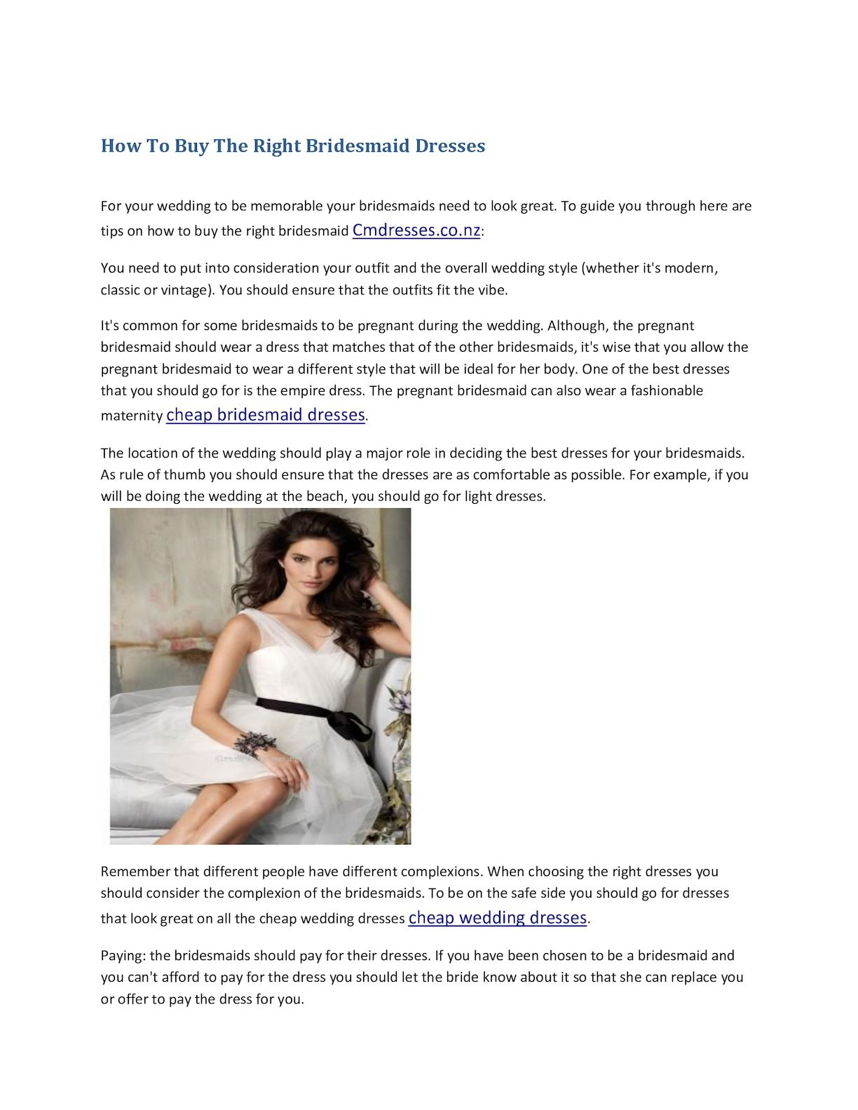 Calameo How To Buy The Right Bridesmaid Dresses