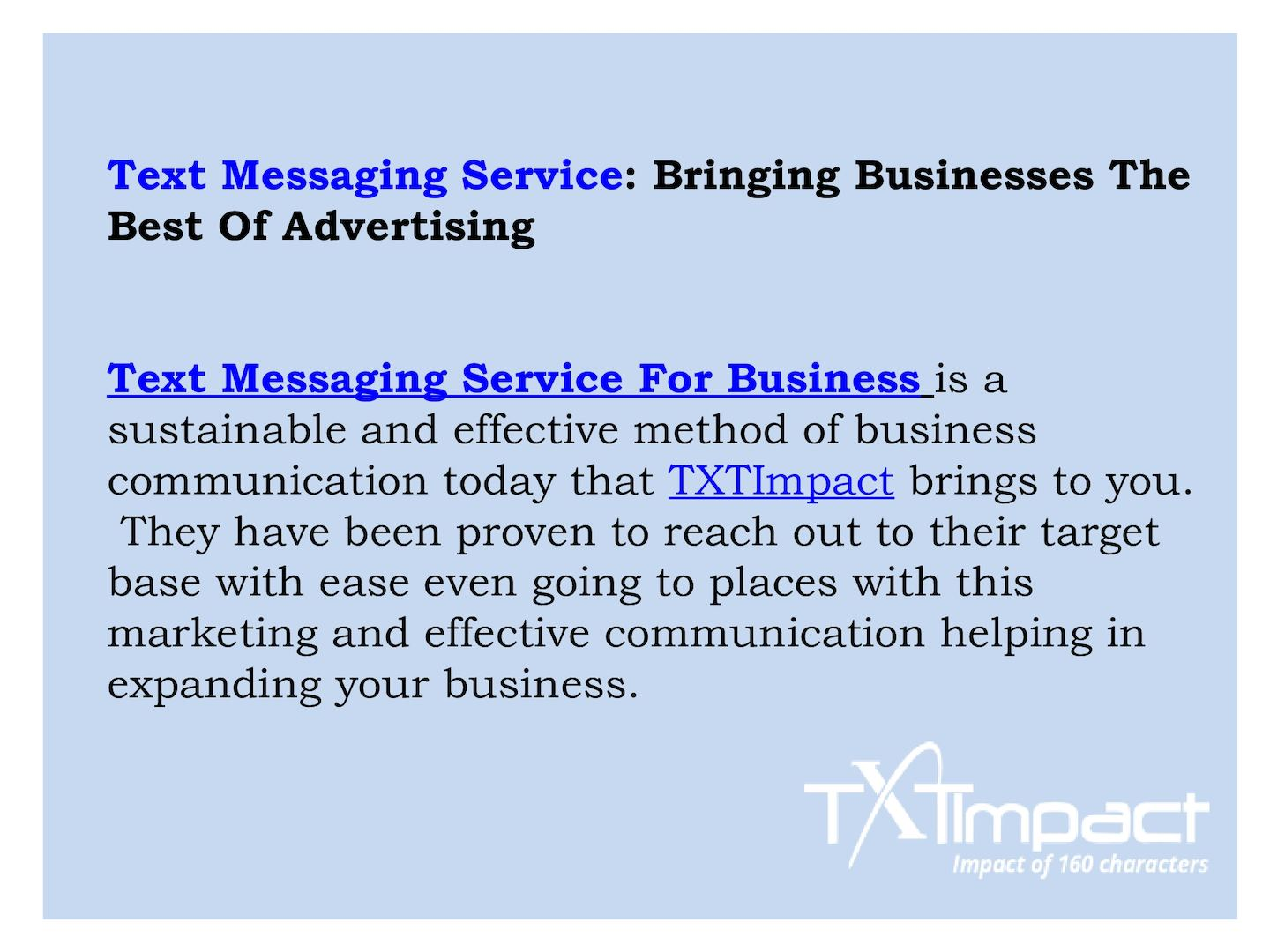 Calaméo - Text Messaging Service For Business | Business Text Messaging