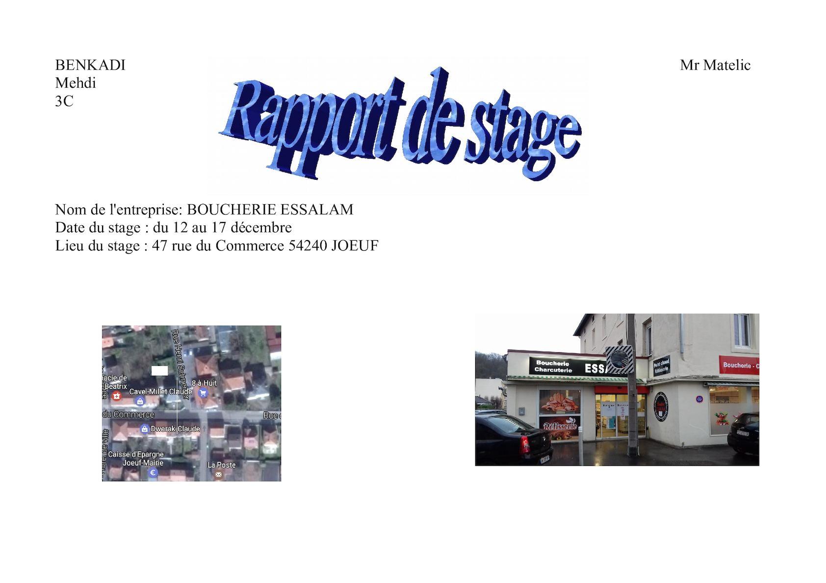 Calameo Rapport De Stage Mehdi Benkadi 3eme C