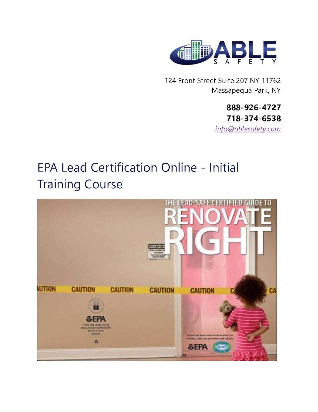 Calameo Epa Lead Certification Online Initial Training Course
