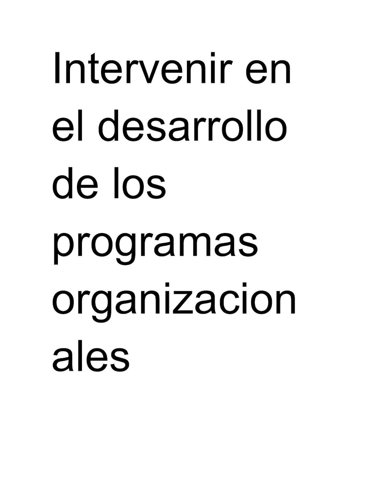 Calaméo Intervenir En El Desarrollo De Los Programas