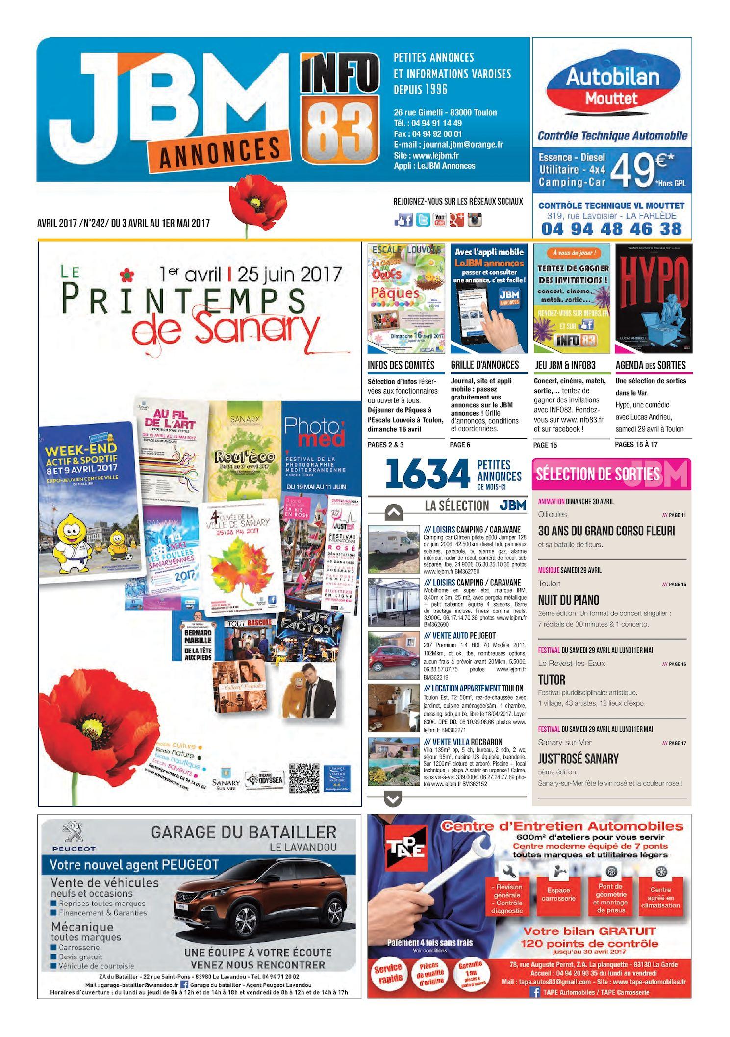 Calaméo - Journal JBM Annonces n°242 Avril 2017 1629b5a3b26