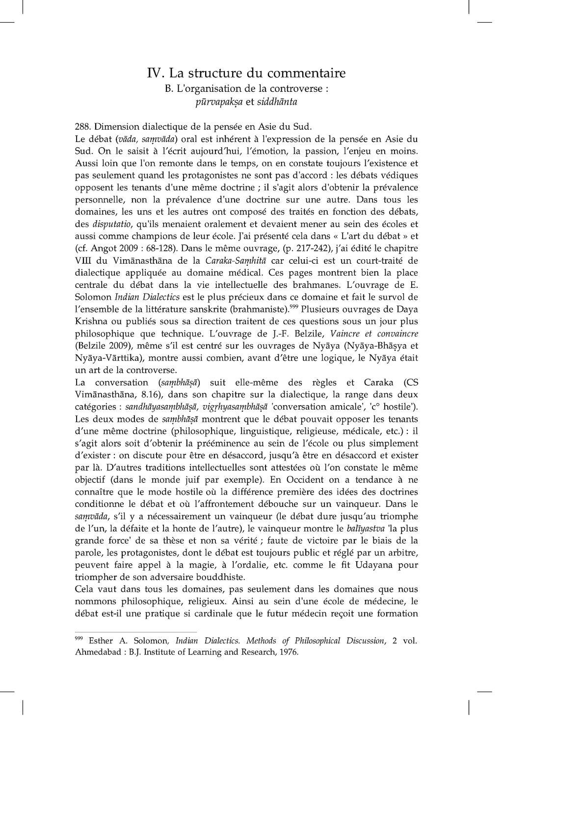 Michel Angot, Le Sanskrit Commentarial, Extrait