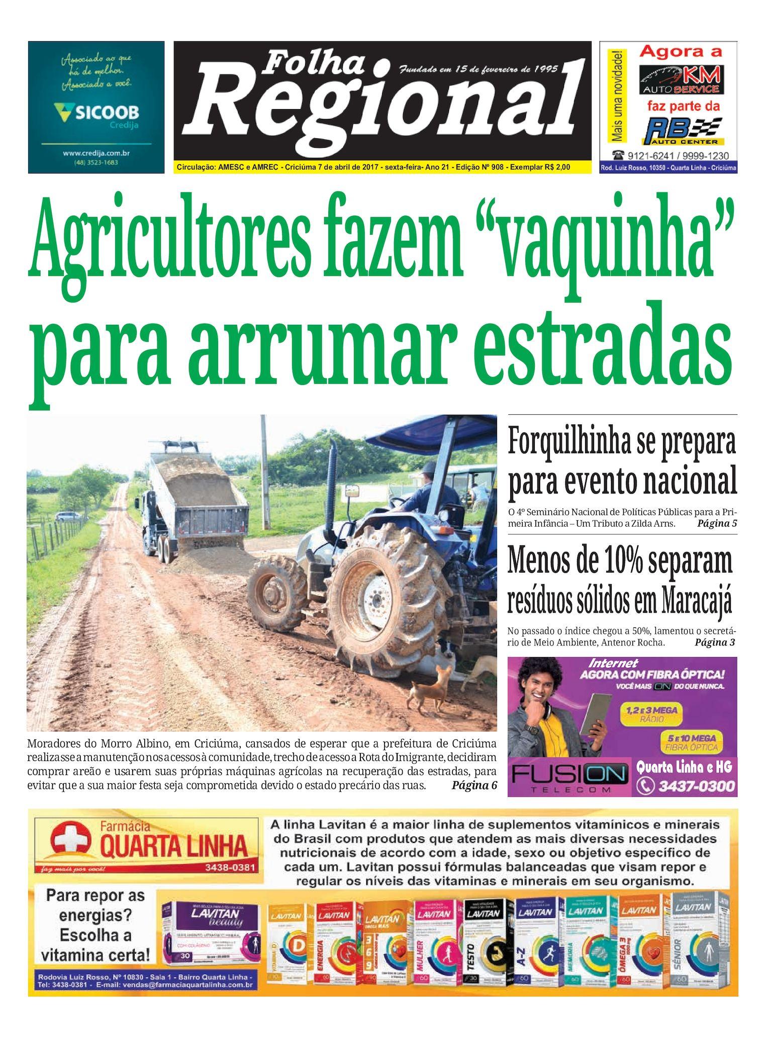 Calaméo - Folha Regional Ed.908 - 07 04 2017 707afae285