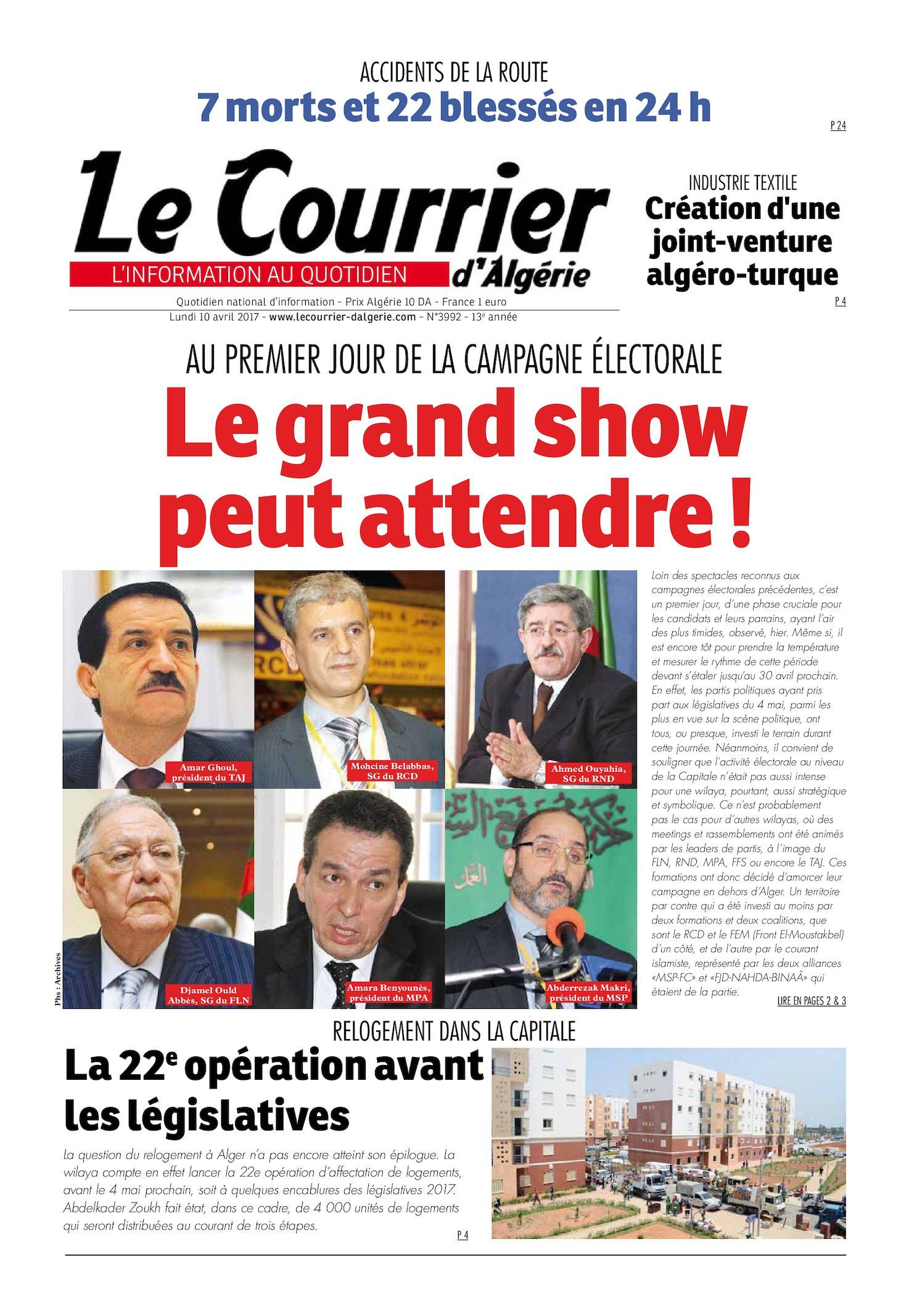 Courrier Du Lundi 10 Avril Le Calaméo 2017 D'algérie dQhtsCr
