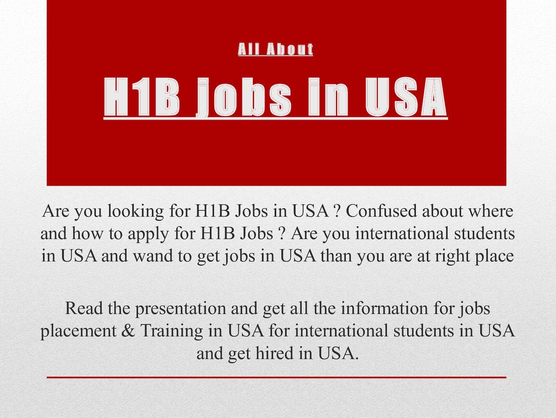 Calaméo - H1b Jobs In Usa